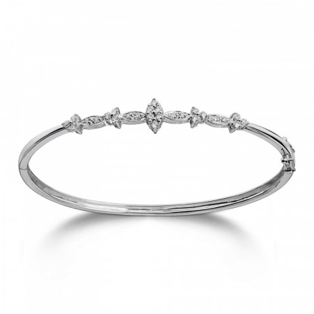 MG Diamonds armring hvitt gull