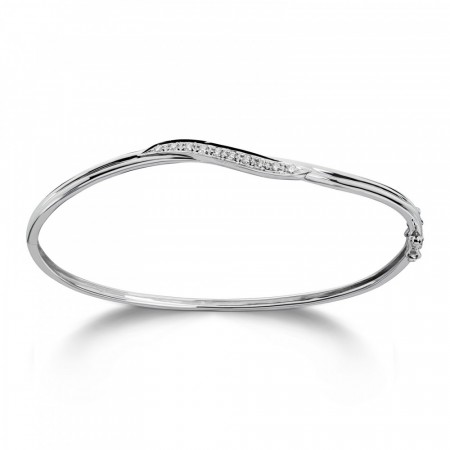 MG Diamonds - Armring hvitt gull